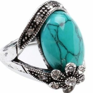 ARRIVING SOON I Silver & Turquoise Antiqued Ring